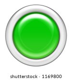 Green Glossy Button - stock photo