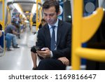 commuter on underground is... | Shutterstock . vector #1169816647