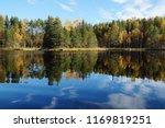 lake kodari in autumn  the lake ... | Shutterstock . vector #1169819251