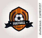 soccer football badge logo... | Shutterstock .eps vector #1169819257