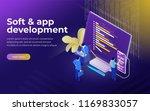 development of software and... | Shutterstock .eps vector #1169833057