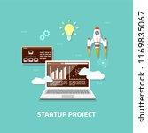business startup concept banner.... | Shutterstock .eps vector #1169835067