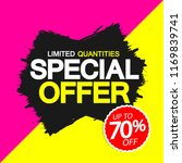 special offer  sale banner... | Shutterstock .eps vector #1169839741