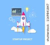 business startup concept banner.... | Shutterstock .eps vector #1169841847