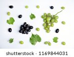 fresh ripe juicy grapes and... | Shutterstock . vector #1169844031