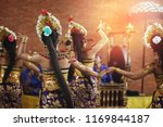 pendet traditional balinese... | Shutterstock . vector #1169844187