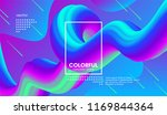 abstract gradient poster with... | Shutterstock .eps vector #1169844364