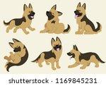 german shepherd dog set | Shutterstock .eps vector #1169845231