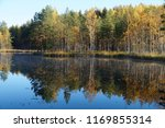 shore of the lake with autumn... | Shutterstock . vector #1169855314