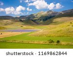 rural landscape with... | Shutterstock . vector #1169862844