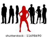 friends   woman in front   Shutterstock . vector #11698690