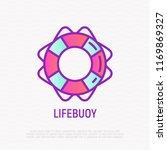 lifebuoy thin line icon. modern ...   Shutterstock .eps vector #1169869327