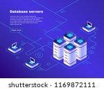 database servers. digital... | Shutterstock .eps vector #1169872111