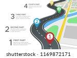 highway road infographic.... | Shutterstock .eps vector #1169872171