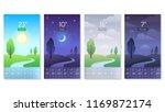 landscape for weather app.... | Shutterstock .eps vector #1169872174