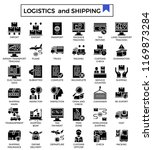 logistics and shipping glyph...   Shutterstock .eps vector #1169873284