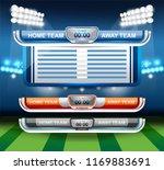 scoreboard broadcast graphic... | Shutterstock .eps vector #1169883691