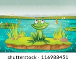 Illustration Of A Frog And A...