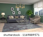 interior of the living room. 3d ... | Shutterstock . vector #1169889571