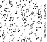 abstract musical pattern for... | Shutterstock .eps vector #116989795