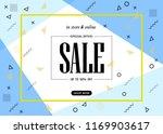 sale banner template design.... | Shutterstock .eps vector #1169903617