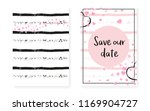 pink glitter sequins with dots. ... | Shutterstock .eps vector #1169904727