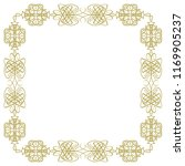 vintage square golden frame on... | Shutterstock .eps vector #1169905237