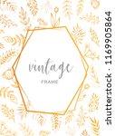 elegant golden vintage frame... | Shutterstock .eps vector #1169905864