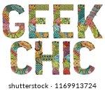 words geek chic. vector...   Shutterstock .eps vector #1169913724