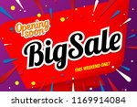 big sale banner template | Shutterstock .eps vector #1169914084