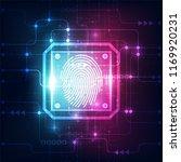 fingerprint integrated in a... | Shutterstock .eps vector #1169920231