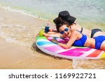 summer lifestyle portrait of... | Shutterstock . vector #1169922721