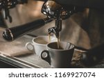 close up of espresso pouring... | Shutterstock . vector #1169927074
