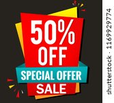 50  off. sale banner template | Shutterstock .eps vector #1169929774
