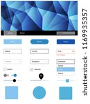 light blue vector web ui kit in ...