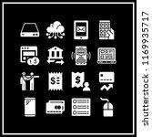 wireless icon. 16 wireless... | Shutterstock .eps vector #1169935717