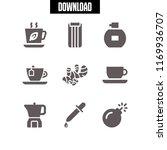aroma icon. 9 aroma vector set. ... | Shutterstock .eps vector #1169936707