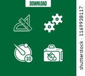 precision icon. 4 precision... | Shutterstock .eps vector #1169938117