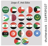 league of arab states flags | Shutterstock .eps vector #1169939107