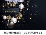 glam christmas cadr with white... | Shutterstock .eps vector #1169939611