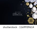 glam christmas cadr with white... | Shutterstock .eps vector #1169939614