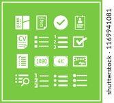 checklist icon. 16 checklist... | Shutterstock .eps vector #1169941081