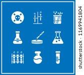 glassware icon. 9 glassware... | Shutterstock .eps vector #1169941804