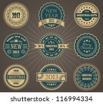 vector set of christmas labels | Shutterstock .eps vector #116994334