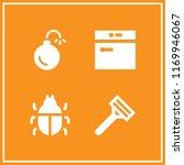 hygiene icon. 4 hygiene vector... | Shutterstock .eps vector #1169946067