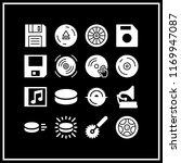 disk icon. 16 disk vector set.... | Shutterstock .eps vector #1169947087