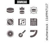 disk icon. 9 disk vector set.... | Shutterstock .eps vector #1169947117