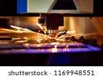 cnc laser cutting of metal ... | Shutterstock . vector #1169948551