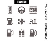 tank icon. 9 tank vector set.... | Shutterstock .eps vector #1169954767
