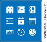 reminder icon. 9 reminder... | Shutterstock .eps vector #1169957044